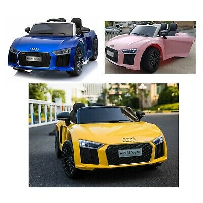 Kids Audi R8 Spyder Compact 12v Electric Licensed Ride On Car Child Jeep SUV • 129.95£