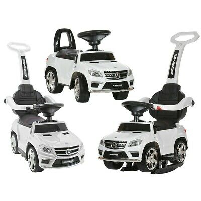 Kids Licensed Mercedes GL63 Ride On Car Push Along Foot To Floor 4 In 1 - White • 74.95£