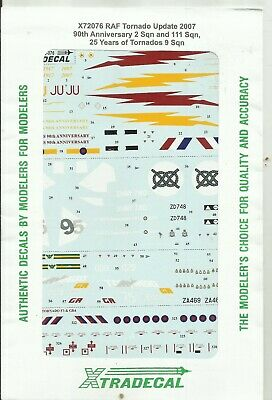 Xtradecal Decals 72076 Tornado F.3 GR.4 Decals In 1:72 Scale • 7.50£