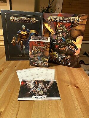 Slaves To Darkness Battletome Warhammer Aos Rule Book And WarScrolls Tokens • 5.50£