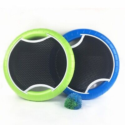 Outdoor Hand Trampoline Paddle Ball Set Flying Disc Beach Garden Party Game Toy • 10.99£