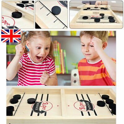 Wooden Hockey Game Table Game Family Fun Game For Kids Children 100% NEW • 9.89£