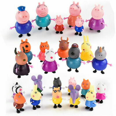 25Pcs Peppa Pig Family Friends Emily Rebecca Suzy Action Figures Toys Xmas Gift • 10.99£