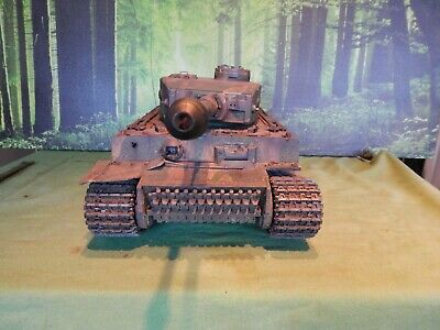 Tamiya Ww2 German Tiger 1  Been Painted And Weatherd 1/16 Scale • 325£