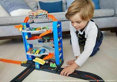 Hot Wheels Stunt Garage & Race Car Toy Gift Play Set By Mattel • 21.95£