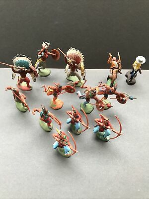 Britains Swoppet Indians & Cowboys Large Job Lot Good Rare Original Examples • 14.50£