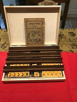 Majong Set Purchased In Singapore During The Early 50's With A Case • 175£