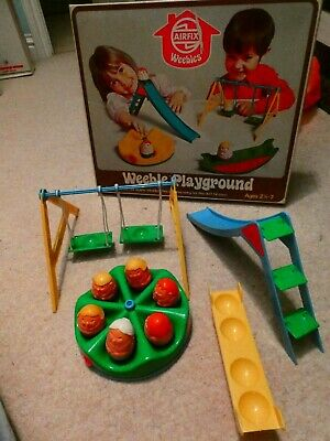 Vintage Weebles Airfix Weeble Playground Set With Original Box 1970s • 20£
