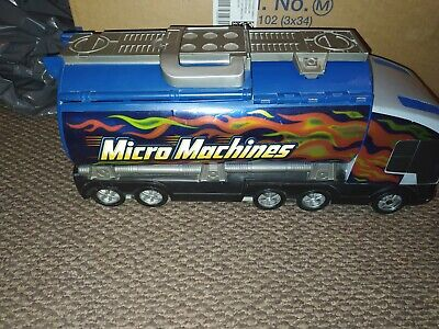 Micro Machines Truck Playset - Carry Case - Vintage & Retro Toy • 0.99£