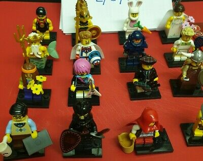 Lego Minifigures Series 7 Full Set Of 16 With Accessories And Base Plates • 45£