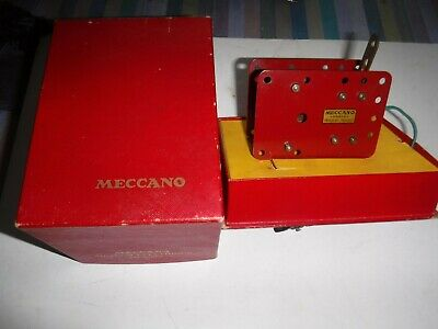 French Meccano Electric Motor 20v Nice Condition In Box -Tested & Works • 9.99£