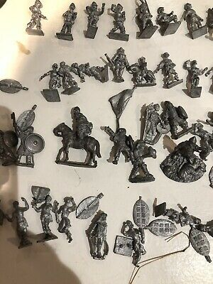 Vintage Miniature Metal  Figures Soldiers War Games Essex Les Higgins  60 Pieces • 0.99£