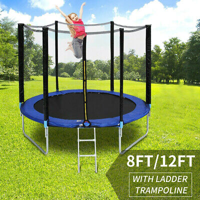 Trampoline 8/12FT With Free Safety Net Enclosure,Ladder,Spring Cover,In/Outdoor  • 123.69£