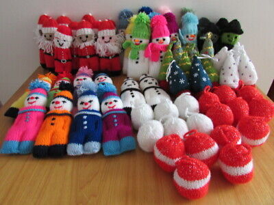 Large Collection Of Mainly  Christmas Themed Knitted Toys • 0.99£