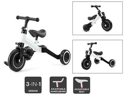 3 In 1 Kids Tricycles For 2+ Years Old Toddler Trike Baby Balance Bike Children • 29.99£