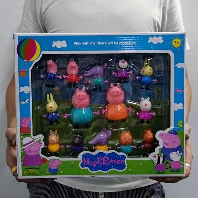 Boxed 4/6/10/14PCS Peppa Pig Figures Toys Family Friends Set For Kids Xmas Gifts • 14.99£