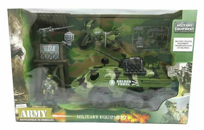 Kids Soldier Force Army Military Vehicle Truck Tank Accessories Toy Play Set • 14.99£