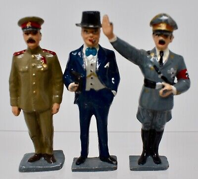 White Metal 50mm Ww2 Leaders Job Lot  Of 3 - Lot K23 • 9.99£