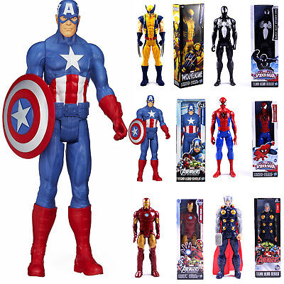 12  Marvel Avengers Wolverine Iron-man Spiderman Action Figures Toys Kids Gifts • 9.99£