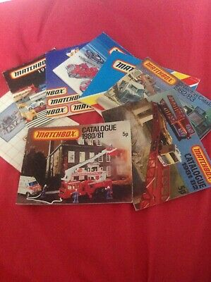 Set Of 8 Matchbox Collectors Catalogues From The 1980's • 18£