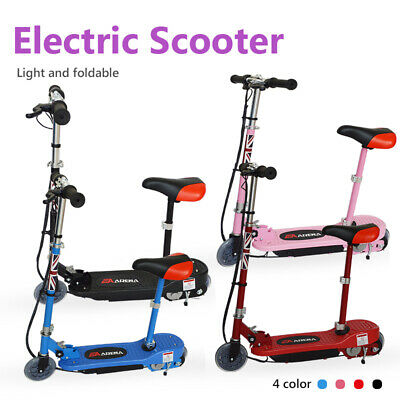 Electric Scooter Kids 120W Battery Ride On  Stand E-Scooter Free Knee Pad  • 84.99£