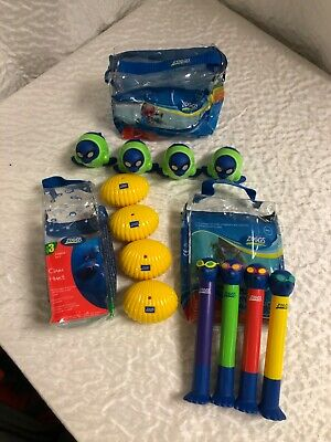 3 X Zoggs Job Lot Bundle Water Confidence Swimming Toys Clam Hunt Rescue 3+ A24 • 5£