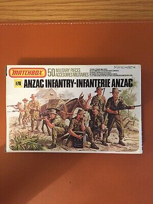 Box Of Vintage Matchbox 1/32 Scale Anzac Infantry • 7.50£