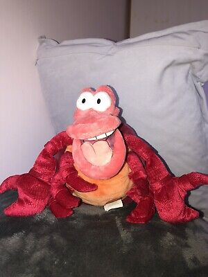 Disney Store Exclusive The Little Mermaid Sebastian Crab Soft Plush Toy Stamped  • 6£