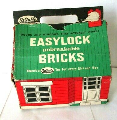 1960`s Reliable Easylock Bricks Building Toy With Box • 14.99£