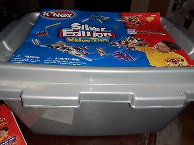Knex Silver Edition Value Tub Building System 6-12 Years Excellent Condition  • 20£