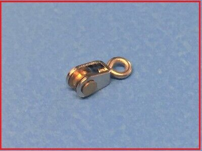 MODEL BOAT PULLEY BLOCK SINGLE SHEAVE 3 X 7 X 3mm ( PACK QTY = 2 ) • 7.15£