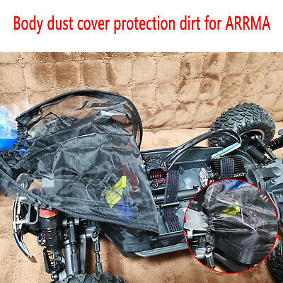 Car Body Dust-proof Cover Prevention Mesh Cover 1/10 For ARRMA Big Rock Crew Cab • 15.82£