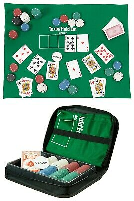 Poker Set King Travel Portable Fun Texas Hold Em Game In A Case Funtime  • 10.95£