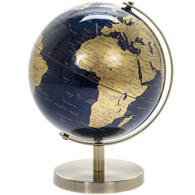 Lesser & Pavey Vintage Rotating Gold And Blue World Globe With Metal Stand For • 18.70£
