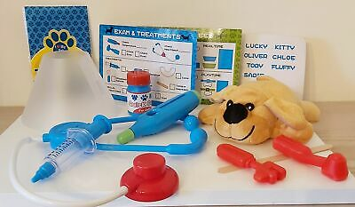 My 1st Pet Care Centre Vet - Pretend Play - 12 Items Toy NEW • 12.95£