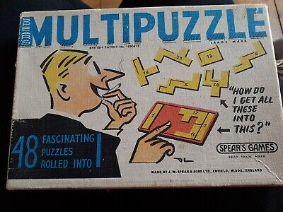 Vintage Spear's Multipuzzle With Booklet In Original Box • 1.90£