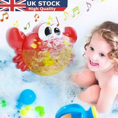 12 Song Musical Crab Frog  Bubble Machine Maker Baby Children Bath Shower Toy_i • 11.99£