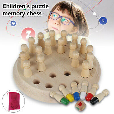 Kids  Board Game Wooden Memory Match Stick Chess Game Puzzle Toy Training Fu SD • 8.29£