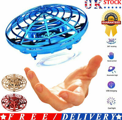 2PCS Mini Drone Quad Induction Levitation UFO Flying Toy Hand-controlled Gifts • 9.59£