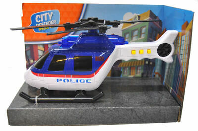 City Defender Police Helicopter With Lights & Sounds Childs Kids Toy New Boxed • 8.95£