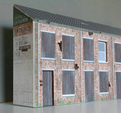 Greenhills Scalextric Slot Car Building Derelict Terraced Houses Kit (Slimlin... • 22.49£