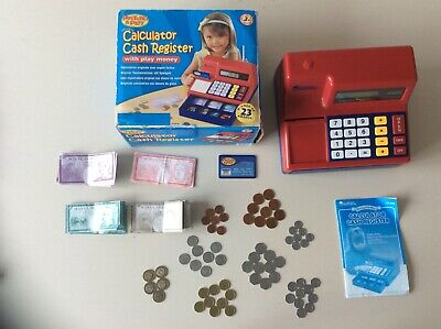 Learning Resources Pretend & Play Calculator Cash Register FULLY WORKING TILL • 15£