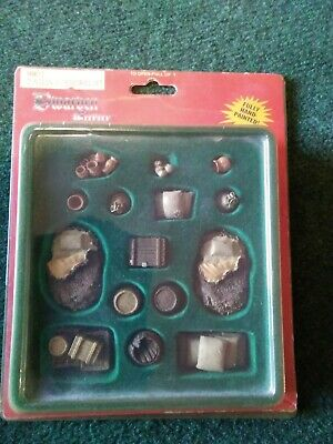 Dwarven Forge Master Maze Dungeon Accessories. Barrels, Chests. Fully Painted • 15£