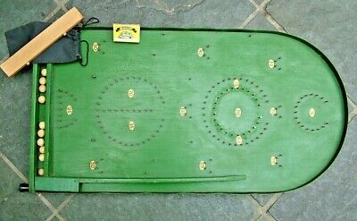 GENUINE 1930's BAGATELLE PINBALL LARGE GAME BOARD In ORIGINAL CONDITION + BALLS • 11.75£