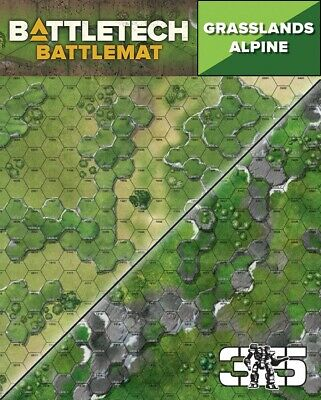 Battletech Alpine Tundra Neoprene Double Sided Map - Collection Only • 17£