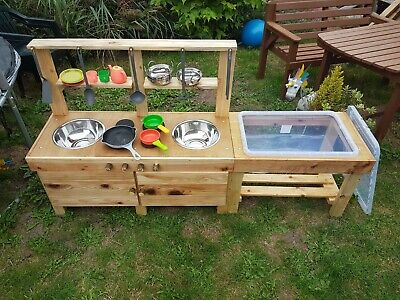 Mud Kitchen With Water/Sand Table • 180£