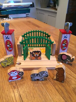 Lot 4 Brio Wooden Railway Thomas BigJigs Compatible - Zoo With Animals • 1.20£