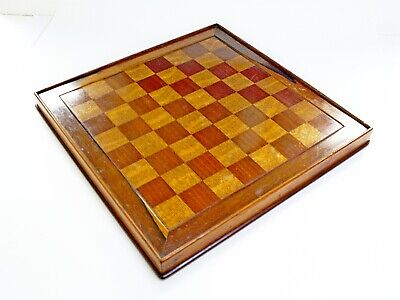 Lovely Antique Solid Wood Oak/mahogany 12.75   Chess Board 1.3   Squares • 249.99£