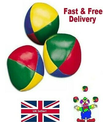 Learn To Juggle - Set Of 3 Juggling Balls Circus Clown Christmas Toy Game Soft  • 4.49£