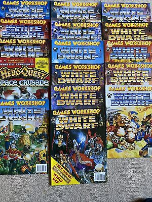 GAMES WORKSHOP WHITE DWARF MAGAZINES JOB LOT HeroQuest Space Crusade 16 ISSUES • 25£
